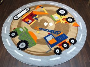 200CMX200CM DIGGERS RUGS/MATS HOME/SCHOOL EDUCATIONAL NON SILP GREAT NEW QUALITY
